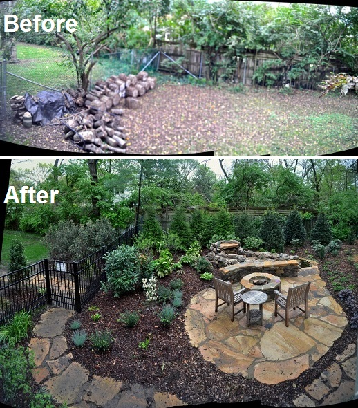 Belle meade before & after