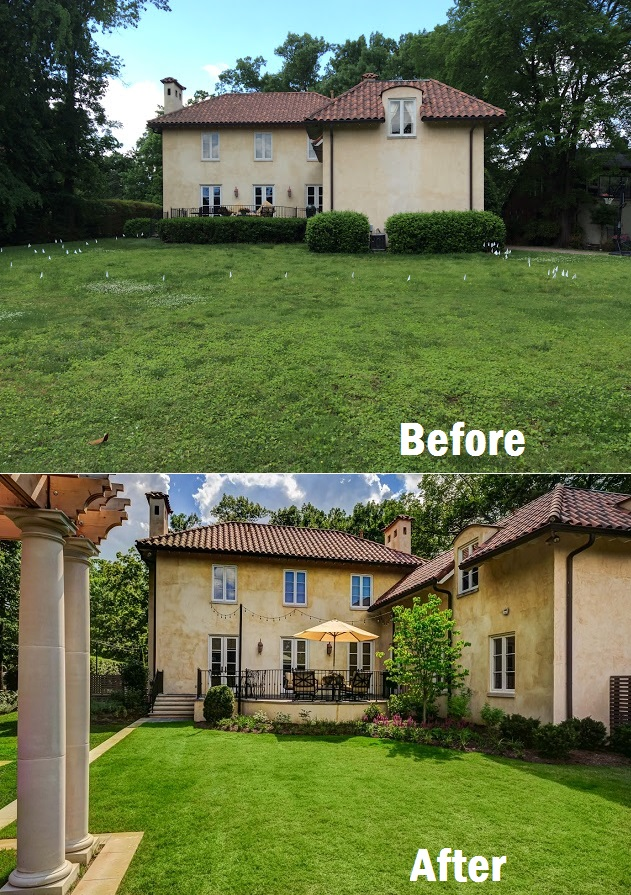villa before & after